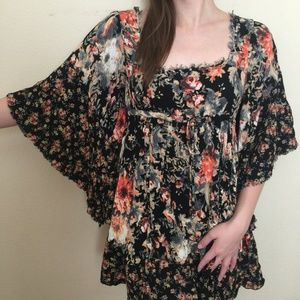 Free People | Floral Square Neck Dress